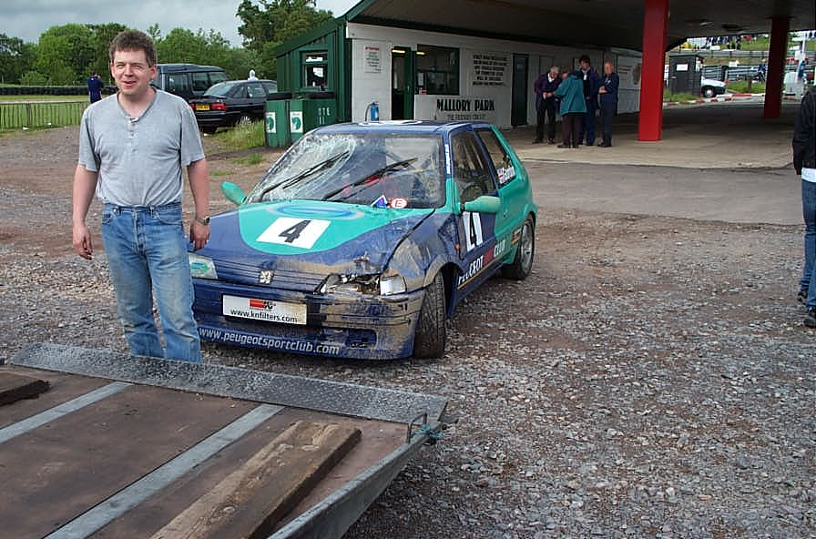 Steve Gordon with the STock Hatch 106 after he rolled it.
